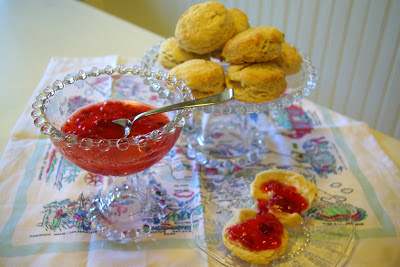 Strawberry Freezer Jam And Biscuits Oleander Palm