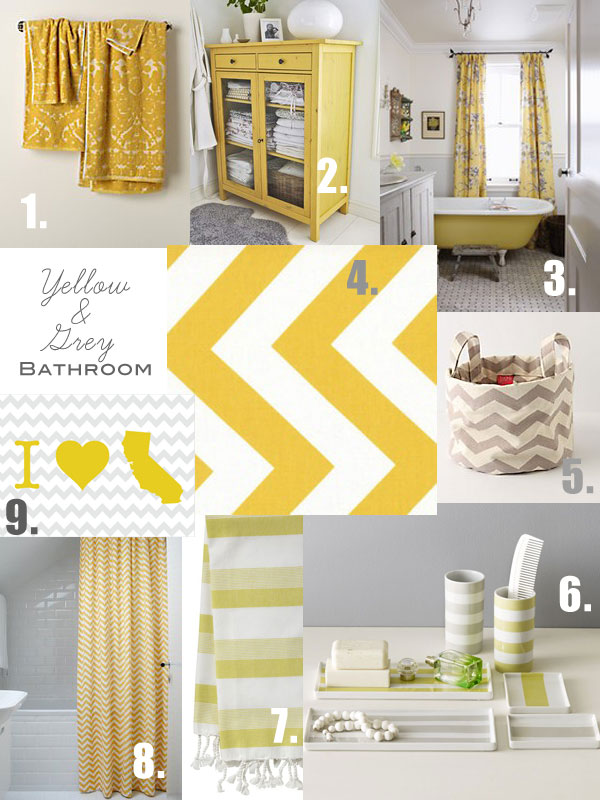 grey and yellow bathroom inspiration oleander palm. Black Bedroom Furniture Sets. Home Design Ideas