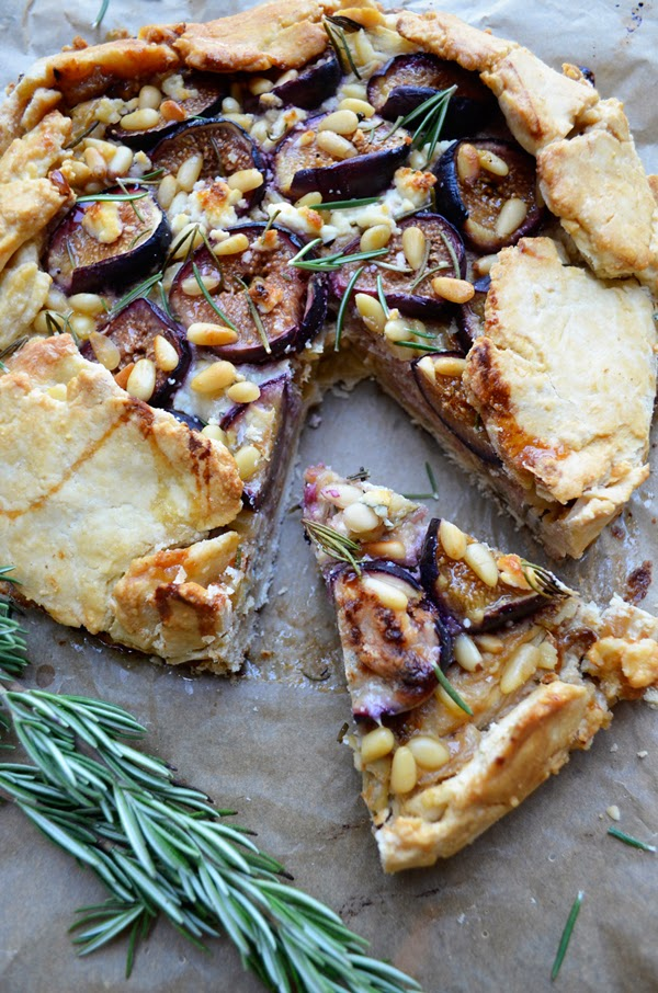 Rosemary, Goat Cheese and Fig Galette - Oleander + Palm