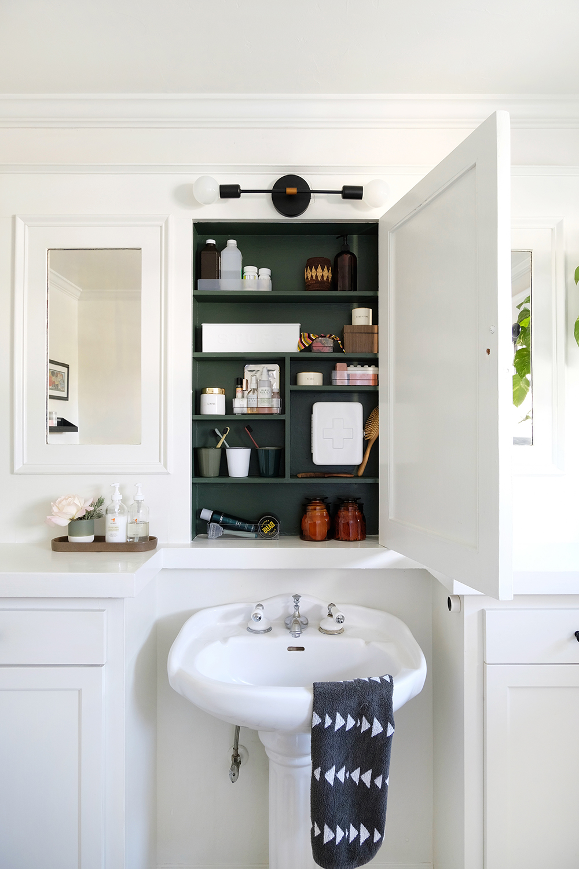 Medicine Cabinet Makeover Oleander Palm
